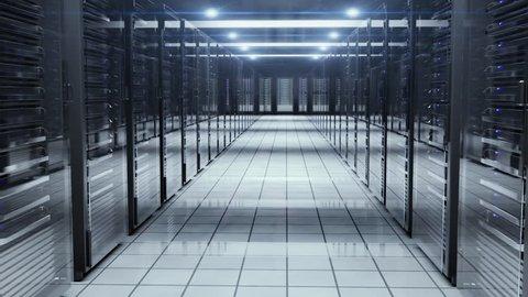 Room Full Of Servers Racks