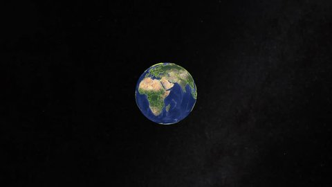 Tonga with flag. 3d earth in space - zoom in Tonga outer, created using ultra high res NASA