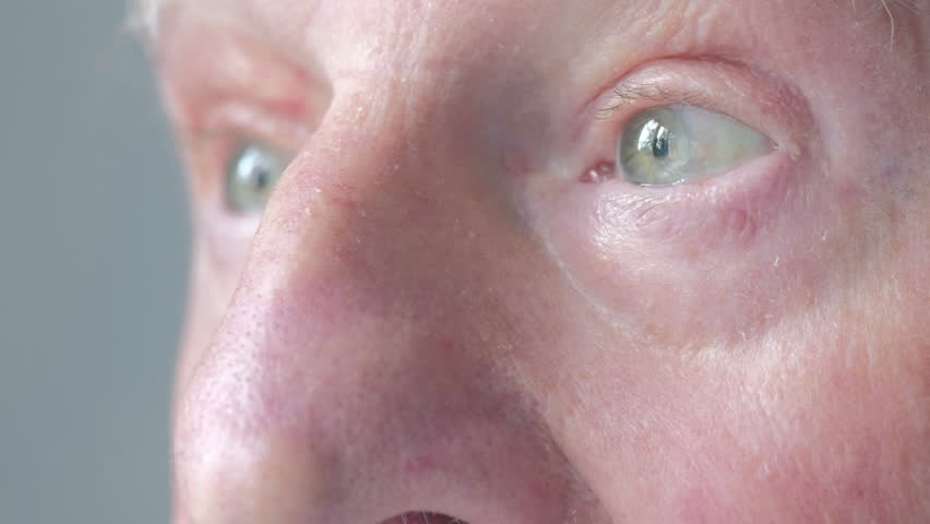 Close up of a senior caucasian man`s eyes | Shutterstock HD Video #1014744908
