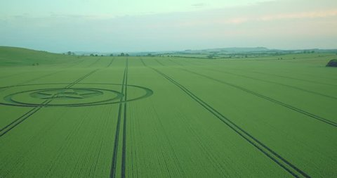 Crop circle with a star in Wiltshire, UK