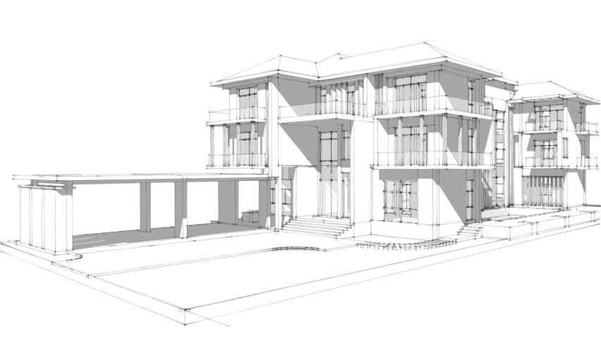 House Sketch Design Architectural Drawings Stock Footage Video 100 Royalty Free 1014789788 Shutterstock