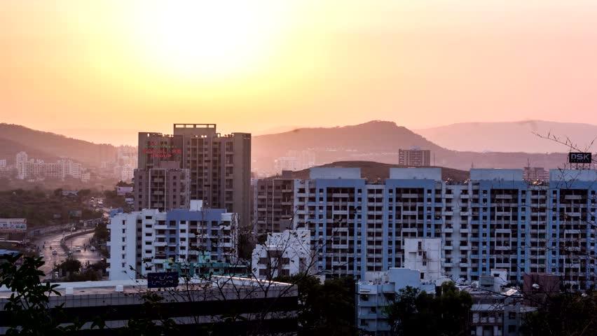 Pashan Hill Sun Set, Pune 4k Timelapse
