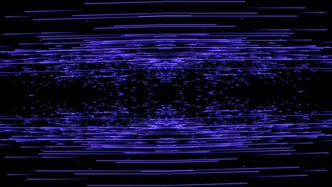 Psychedelic particle line background. Mirrored lines. 4K