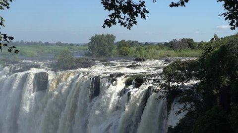 top to down victoria falls, zimbabwe