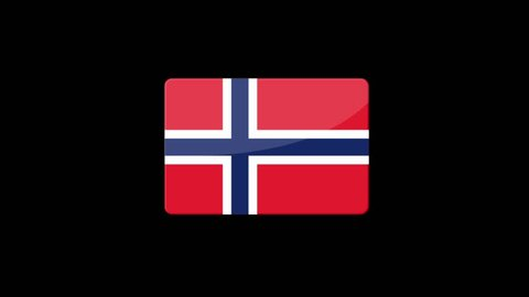 Flag of Norway Beautiful 3d animation of Norway flag in loop mode.Norway flag animation