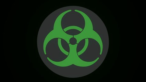 Radiation Biohazard Death Quarantine. Set Signs. Black Background. Radioactive symbol design