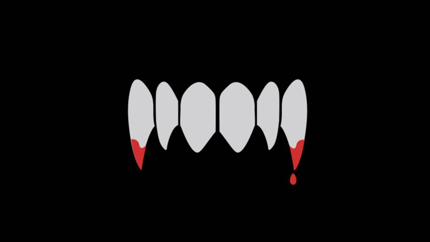 Party icons animation with black png background.vampire Teeth icon animation with black png background.