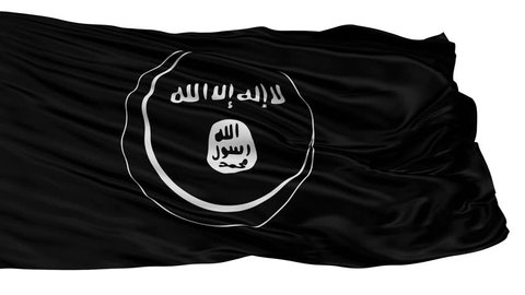 Eastern Indonesian Mujahideen Mujahidin Flag, Isolated View Realistic Animation Seamless Loop - 10 Seconds Long