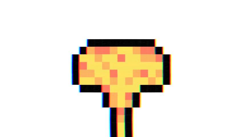 Pixel Art Bomb Explosion With Vidéos De Stock 100 Libres De Droit 1015178818 Shutterstock
