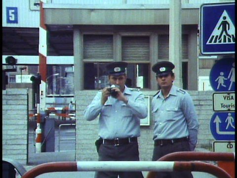 WEST BERLIN, WEST GERMANY, 1988, The Berlin Wall, soldier photographs cameraman