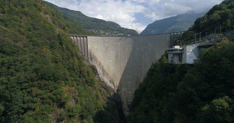 Contra dam, Verzasca - Aerial 4K