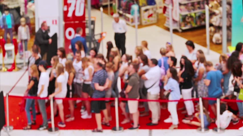 Buyers are queued to the store for sale | Shutterstock HD Video #1015262128