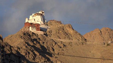 Leh Palace and Namgyal Tsemo Monastery at Leh Ladakh, Northern India