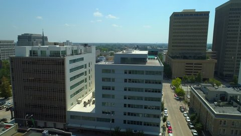 Aerial Downtown Baton Rouge no logos