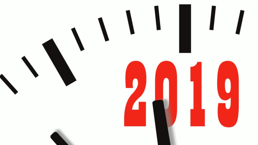 Animation of New Year count down clock. 4K UltraHD footage. | Shutterstock HD Video #1015294588