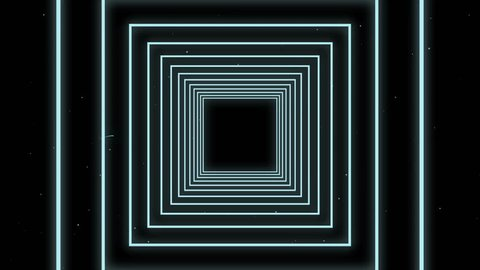Digital generated video of modern concentric lines
