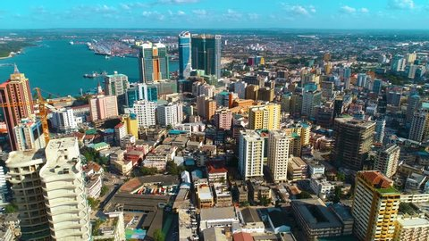aerial view of the Dar city, Tanzania