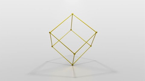 Elegant golden cube abstract scene seamless motion background. High quality 3D rendered animation with a bit of depth of field, shadows and supersampling.