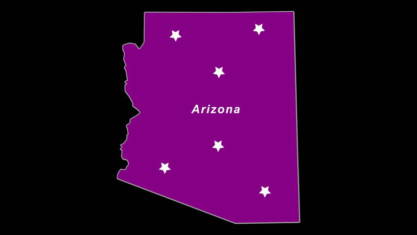 Purple State Map.Arizona As Purple State Election Map Animated Alpha Chan