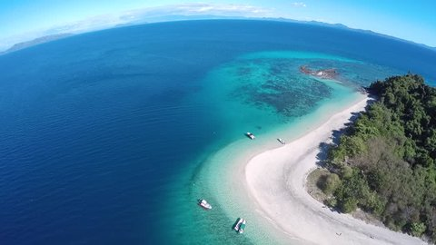 Beautiful island of Nosy Tanikely, north of Madagascar