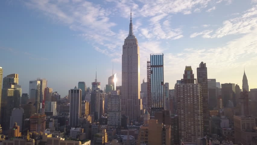Day flying towards Empire State Building higher variation | Shutterstock HD Video #1015531708