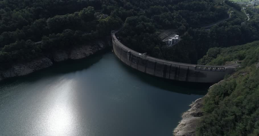 Contra dam backside - Aerial 4K