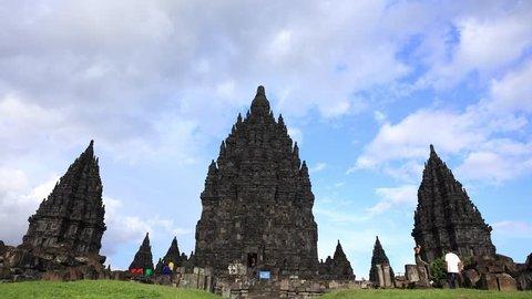 Time-lapse video of Prambanan temple in Yogyakarta, Indonesia Shot in 4K