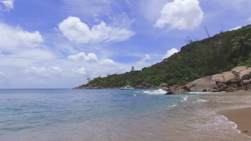 View Of The Indian Ocean And Anse Major Beach, Mahe Island, Seychelles