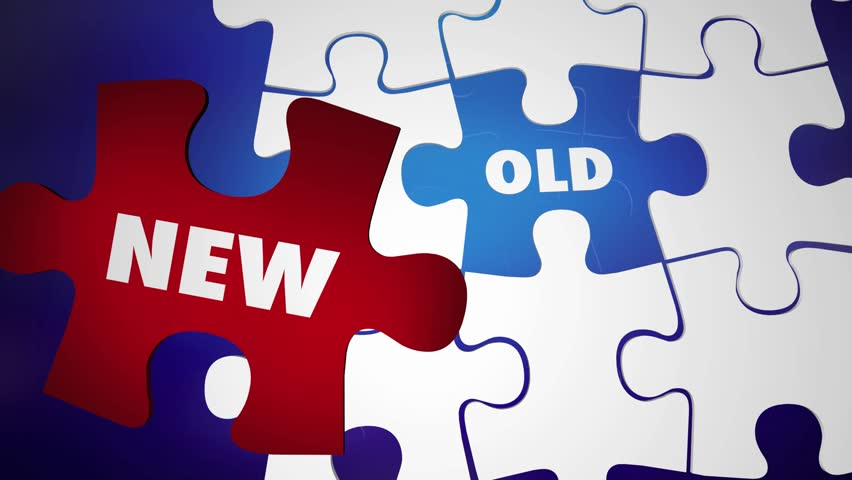 New Vs Old Update Change Latest Upgrade Puzzle Words 3d Animation | Shutterstock HD Video #1015714408