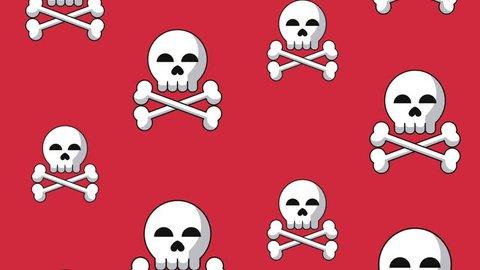 Skull falling background HD animation