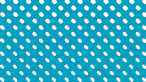 Abstract isometric background white cylinders diagonal waves motion