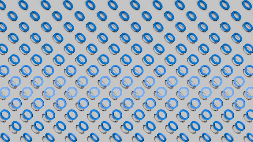 Abstract isometric background blue rings diagonal waves motion | Shutterstock HD Video #1015792258