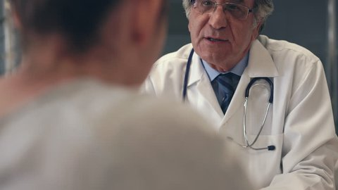 Doctor and patient are talking