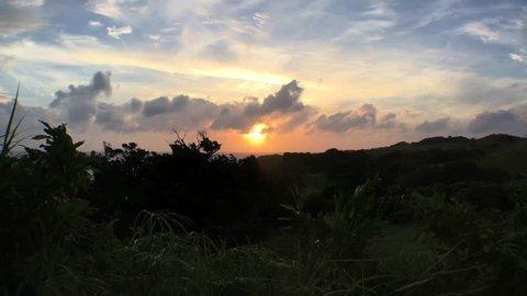 Sunset in Ishigaki Island, Okinawa, Japan