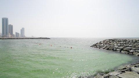 Persian Gulf in Ajman of United Arab Emirates