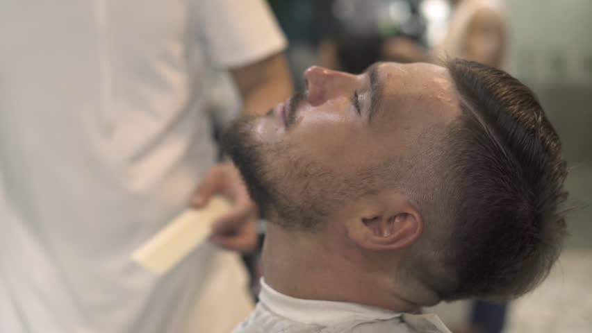Cutting Beard With Barber Scissors Stock Footage Video 100 Royalty Free 1015835548 Shutterstock
