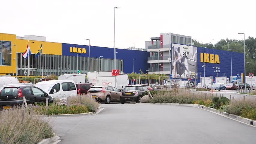 ikea restaurant stock video footage