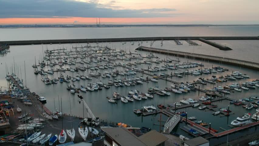 Dun Laoghaire Harbour, Dublin, Ireland | Shutterstock HD Video #1016004628