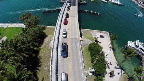 Hillsboro Inlet Bridge Track Birds Eye