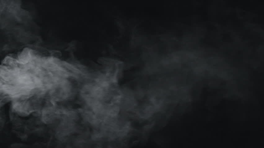 Slow motion vapor steam from left side over black background | Shutterstock HD Video #1016076418