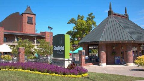 KANSAS CITY, MO - 2018: Starlight Theatre Entrance at Swope Park in Kansas City on a Sunny Day in Missouri