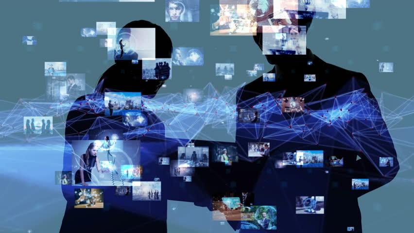 Social networking concept. | Shutterstock HD Video #1016112328