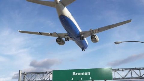 Airplane Landing Bremen