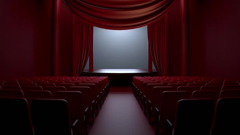 Theatre Curtain Camera Motion 3D Renders 30 FPS 0:15 SECOND