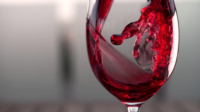 Red wine forms a beautiful wave in a glass fuse | Shutterstock HD Video #1016259868