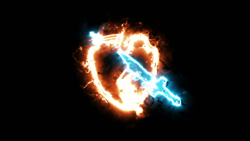 The animation of sign of war, a colorful aura of energy   Shutterstock HD Video #1016263798