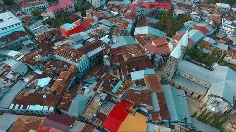 aerial view of the stone town Zanzibar, Tanzania