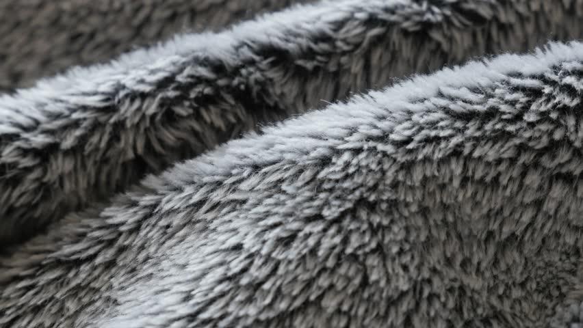 Hair of artificial fur fabrics 4K slow tilt video