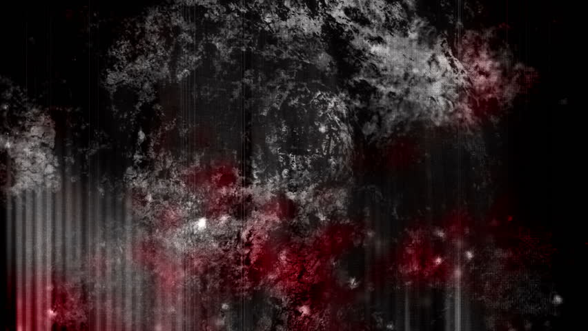 Blood red on the black grunge looping abstract horror background