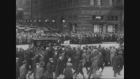 CIRCA 1920s - Marshal Ferdinand Foch views parades in Cleveland, Ohio and in Chicago and he attends a tribute to Abraham Lincoln.